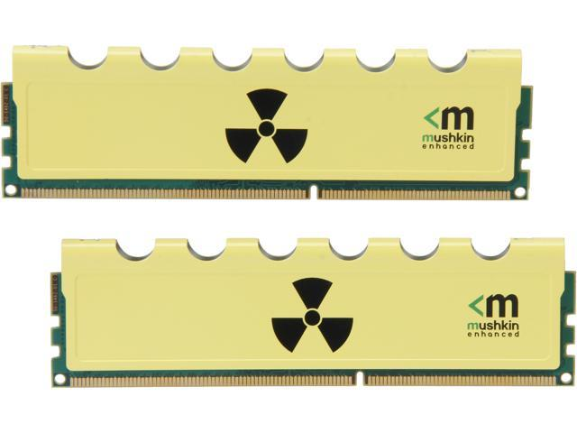 Mushkin Enhanced Blackline RADIOACTIVE 8GB (2 x 4GB) 240-Pin DDR3 SDRAM DDR3 2666 (PC3 21300) Desktop Memory Model 997127Y