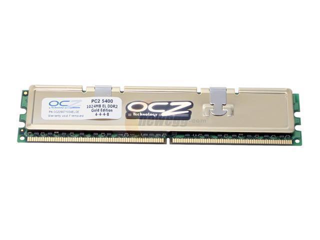 OCZ Gold Series 1GB 240-Pin DDR2 SDRAM DDR2 667 (PC2 5400) System Memory Model OCZ26671024ELGE