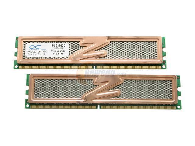 OCZ Vista Upgrade 4GB (2 x 2GB) 240-Pin DDR2 SDRAM DDR2 667 (PC2 5400) Dual Channel Kit Desktop Memory Model OCZ2VU6674GK