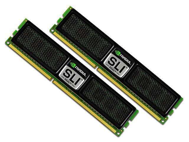 OCZ SLI-Ready 2GB (2 x 1GB) 240-Pin DDR2 SDRAM DDR2 800 (PC2 6400) Dual Channel Kit Desktop Memory Model OCZ2N800SR2GK