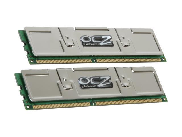 OCZ Platinum 2GB (2 x 1GB) 184-Pin DDR SDRAM DDR 400 (PC 3200) Dual Channel Kit Desktop Memory Model OCZ4002048ELDCPE-K