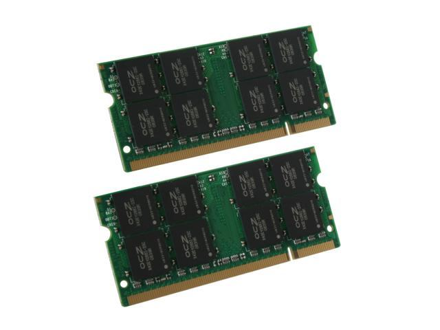 OCZ 4GB (2 x 2GB) 200-Pin DDR2 SO-DIMM DDR2 667 (PC2 5400) Dual Channel Kit Laptop Memory Model OCZ2MV6674GK