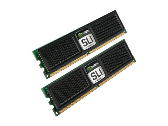 OCZ SLI-Ready Edition 4GB (2 x 2GB) 240-Pin DDR2 SDRAM DDR2 800 (PC2 6400) Dual Channel Kit Desktop Memory Model OCZ2N800SR4GK