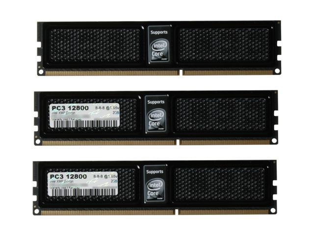 OCZ XMP Ready Series 6GB (3 x 2GB) 240-Pin DDR3 SDRAM DDR3 1600 (PC3 12800) Desktop Memory Model OCZ3X1600LV6GK