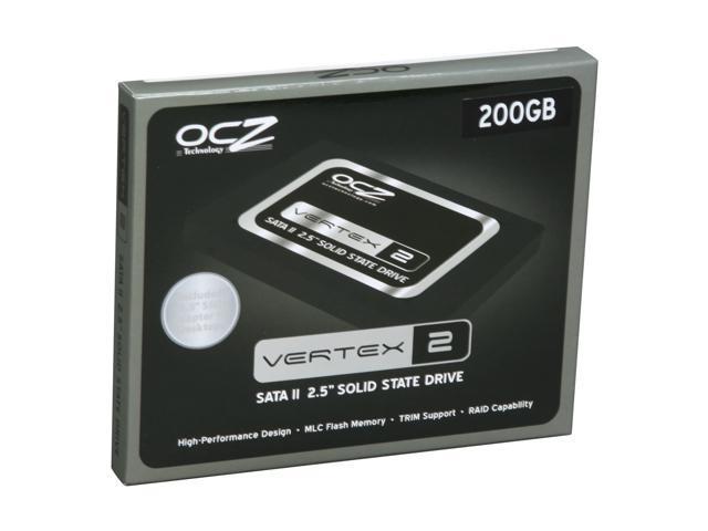 "OCZ Vertex 2 2.5"" 200GB SATA II MLC Internal Solid State Drive (SSD) OCZSSD2-2VTX200G"