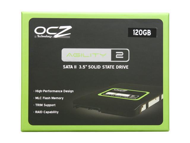 "OCZ Agility 2 3.5"" 120GB SATA II MLC Internal Solid State Drive (SSD) OCZSSD3-2AGT120G"