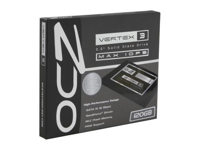 """OCZ Vertex 3 Series - MAX IOPS Edition 2.5"""" 120GB SATA III MLC Internal Solid State Drive (SSD) VTX3MI-25SAT3-120G"""