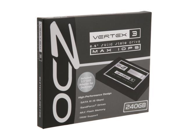 """OCZ Vertex 3 - MAX IOPS Edition 2.5"""" 240GB SATA III MLC Internal Solid State Drive (SSD) VTX3MI-25SAT3-240G"""