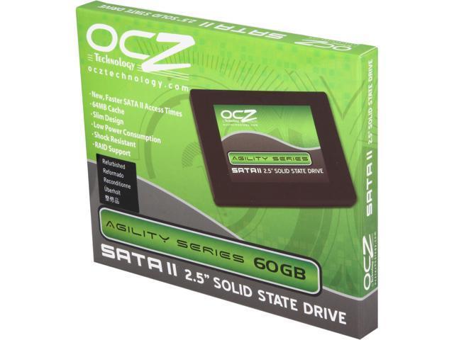 "OCZ Agility Series 2.5"" 60GB SATA II MLC Internal Solid State Drive (SSD) OCZSSD2-1AGT60G"