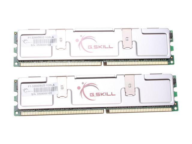 G.SKILL Extreme Series 1GB (2 x 512MB) 184-Pin DDR SDRAM DDR 400 (PC 3200) Samsung TCCD Dual Channel Kit System Memory Model F1-3200DSU2-1GBLA