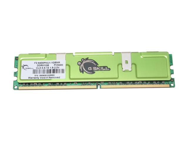 G.SKILL 1GB 240-Pin DDR2 SDRAM DDR2 800 (PC2 6400) Desktop Memory Model F2-6400PHU1-1GBNR