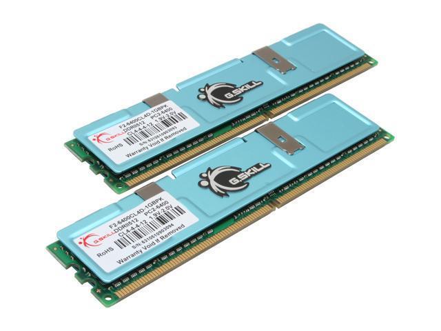 G.SKILL 1GB (2 x 512MB) 240-Pin DDR2 SDRAM DDR2 800 (PC2 6400) Dual Channel Kit Desktop Memory Model F2-6400CL4D-1GBPK