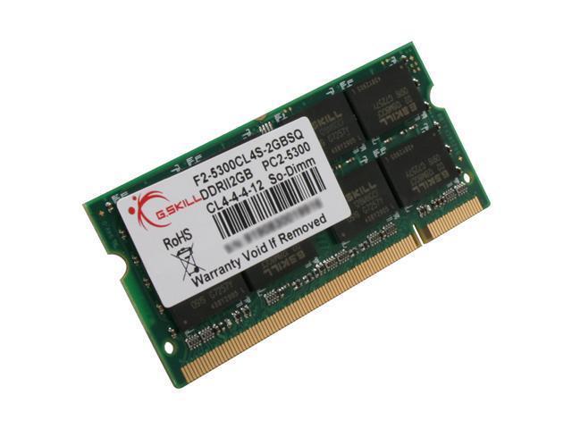 G.SKILL 2GB 200-Pin DDR2 SO-DIMM DDR2 667 (PC2 5300) Laptop Memory Model F2-5300CL4S-2GBSQ