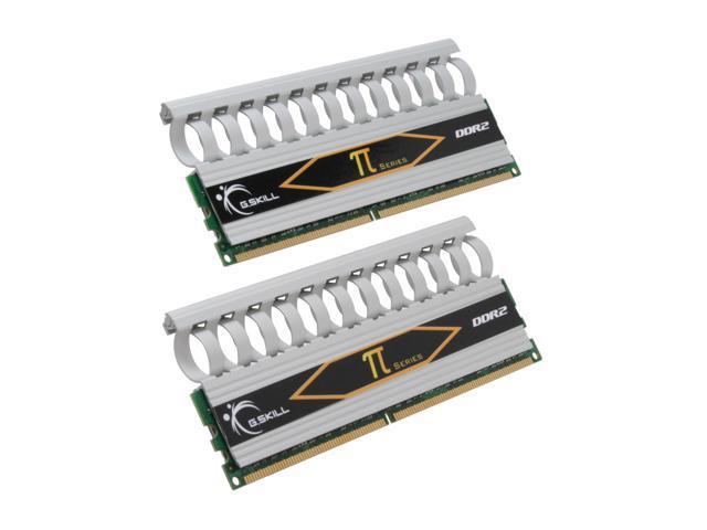 G.SKILL 4GB (2 x 2GB) 240-Pin DDR2 SDRAM DDR2 800 (PC2 6400) Dual Channel Kit Desktop Memory Model F2-6400CL5D-4GBPI