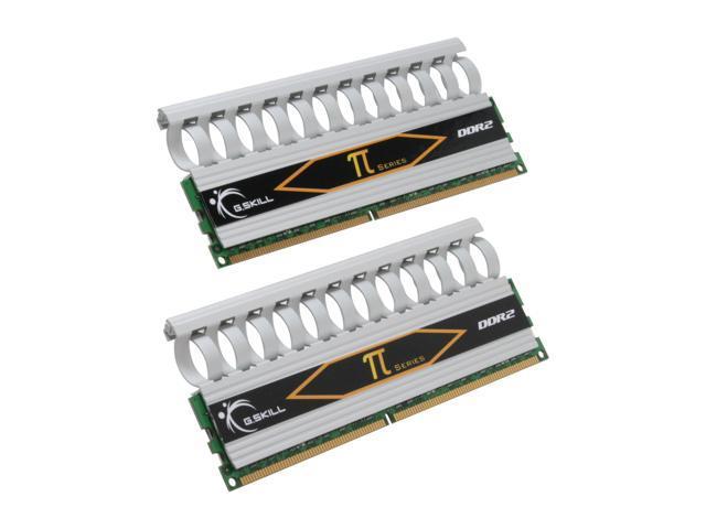 G.SKILL 4GB (2 x 2GB) 240-Pin DDR2 SDRAM DDR2 1000 (PC2 8000) Dual Channel Kit Desktop Memory Model F2-8000CL5D-4GBPI