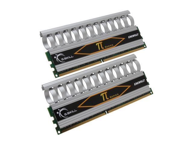 G.SKILL 4GB (2 x 2GB) 240-Pin DDR2 SDRAM DDR2 800 (PC2 6400) Dual Channel Kit Desktop Memory Model F2-6400CL4D-4GBPI