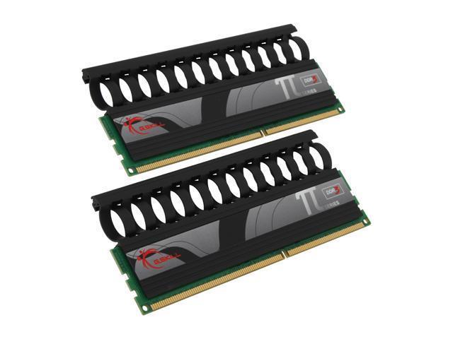 G.SKILL PI Black 2GB (2 x 1GB) 240-Pin DDR3 SDRAM DDR3 1600 (PC3 12800) Dual Channel Kit Desktop Memory Model F3-12800CL7D-2GBPI-B