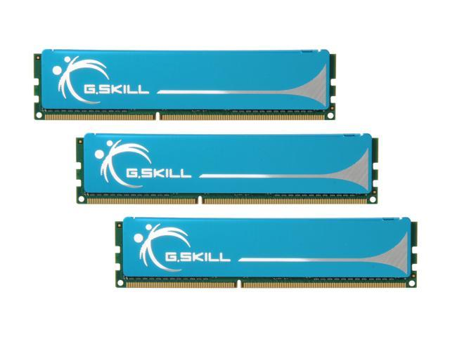 G.SKILL 3GB (3 x 1GB) 240-Pin DDR3 SDRAM DDR3 1333 (PC3 10666) Triple Channel Kit Desktop Memory Model F3-10666CL7T-3GBPK