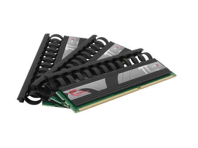 G.SKILL PI Black 3GB (3 x 1GB) 240-Pin DDR3 SDRAM DDR3 1600 (PC3 12800) Triple Channel Kit Desktop Memory Model F3-12800CL8T-3GBPI-B