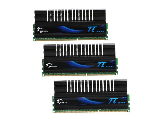 G.SKILL 6GB (3 x 2GB) 240-Pin DDR3 SDRAM DDR3 1600 (PC3 12800) Triple Channel Kit Desktop Memory Model F3-12800CL8TU-6GBPI