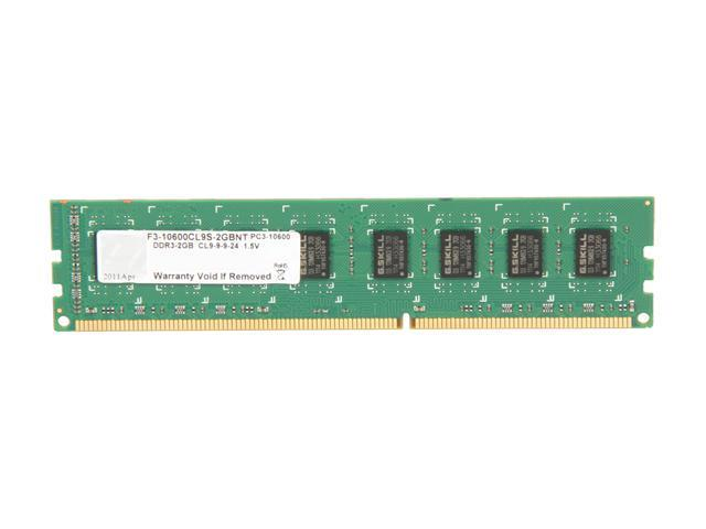 G.SKILL 2GB 240-Pin DDR3 SDRAM DDR3 1333 (PC3 10600) Desktop Memory Model F3-10600CL9S-2GBNT