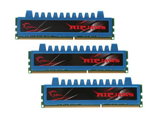 G.SKILL Ripjaws Series 6GB (3 x 2GB) 240-Pin DDR3 SDRAM DDR3 1600 (PC3 12800) Desktop Memory Model F3-12800CL8T-6GBRM