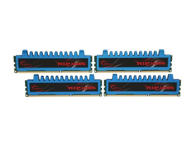 G.SKILL Ripjaws Series 8GB (4 x 2GB) 240-Pin DDR3 SDRAM DDR3 1600 (PC3 12800) Desktop Memory Model F3-12800CL7Q-8GBRM