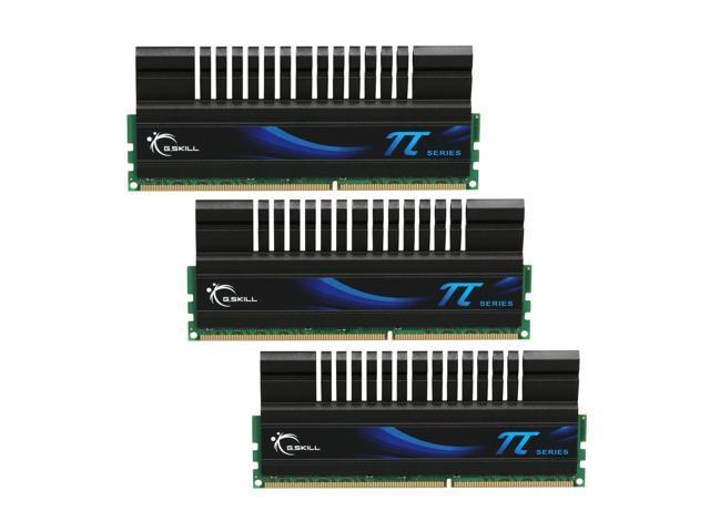G.SKILL PI Series 6GB (3 x 2GB) 240-Pin DDR3 SDRAM DDR3 1600 (PC3 12800) Desktop Memory Model F3-12800CL7T-6GBPI