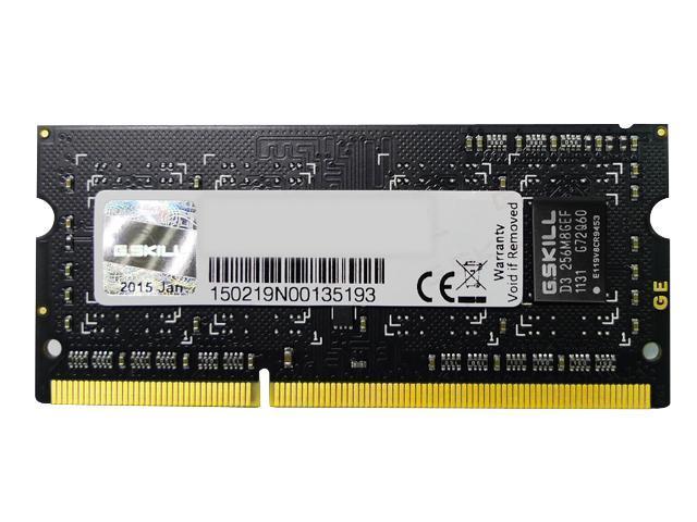 G.SKILL 2GB 204-Pin DDR3 SO-DIMM DDR3 1333 (PC3 10600) Laptop Memory Model F3-10600CL9S-2GBSQ
