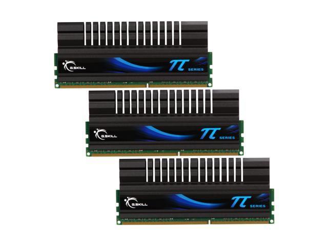 G.SKILL PI 6GB (3 x 2GB) 240-Pin DDR3 SDRAM DDR3 1600 (PC3 12800) Desktop Memory Model F3-12800CL6T-6GBPI