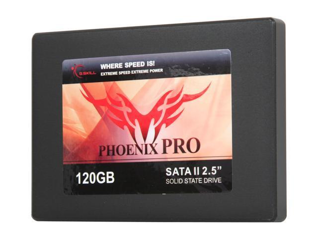 """G.SKILL Phoenix Pro Series 2.5"""" 120GB SATA II MLC Internal Solid State Drive (SSD) FM-25S2S-120GBP2"""