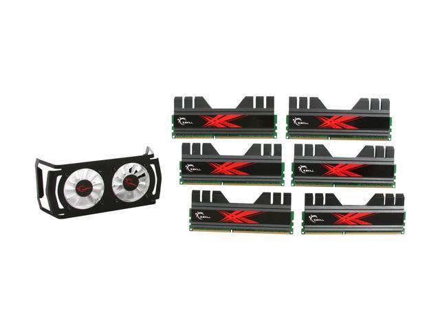 G.SKILL Trident+ Turbulence II 24GB (6 x 4GB) 240-Pin DDR3 SDRAM DDR3 1600 (PC3 12800) Desktop Memory Model F3-12800CL7T2-24GBTDD