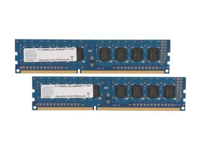 G.SKILL NS 4GB (2 x 2GB) 240-Pin DDR3 SDRAM DDR3 1333 (PC3 10666) Desktop Memory Model F3-10666CL9D-4GBNS