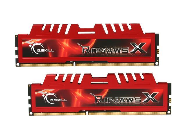 G.SKILL Ripjaws X Series 8GB (2 x 4GB) 240-Pin DDR3 SDRAM DDR3 1333 (PC3 10666) Desktop Memory Model F3-10666CL9D-8GBXL