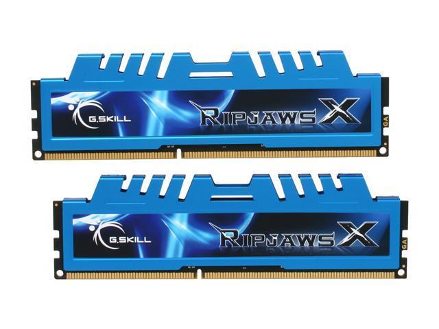 G.SKILL Ripjaws X Series 4GB (2 x 2GB) 240-Pin DDR3 SDRAM DDR3 1600 (PC3 12800) Desktop Memory Model F3-12800CL7D-4GBXM