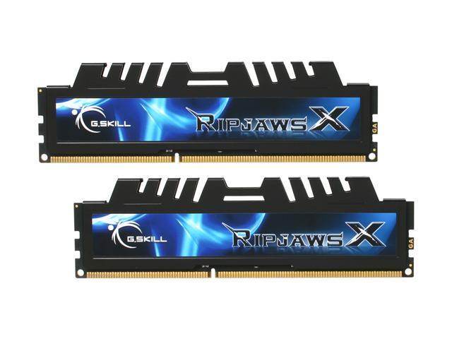G.SKILL Ripjaws X Series 8GB (2 x 4GB) 240-Pin DDR3 SDRAM DDR3 1600 (PC3 12800) Desktop Memory Model F3-12800CL7D-8GBXH