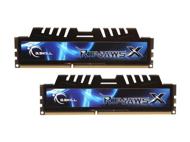 G.SKILL Ripjaws X Series 8GB (2 x 4GB) 240-Pin DDR3 SDRAM DDR3 1333 (PC3 10666) Desktop Memory Model F3-10666CL7D-8GBXH