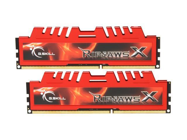 G.SKILL Ripjaws X Series 8GB (2 x 4GB) 240-Pin DDR3 SDRAM DDR3 1866 (PC3 14900) Desktop Memory Model F3-14900CL9D-8GBXL