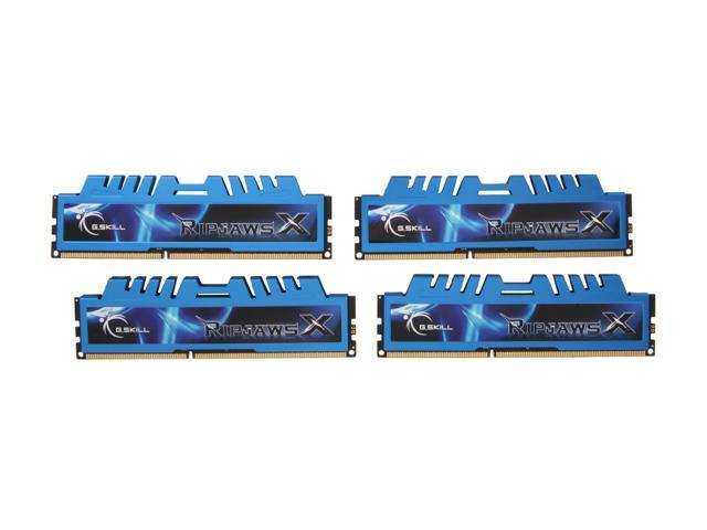 G.SKILL Ripjaws X Series 16GB (4 x 4GB) 240-Pin DDR3 SDRAM DDR3L 1600 (PC3L 12800) Low Voltage Desktop Memory Model F3-12800CL9Q-16GBXM