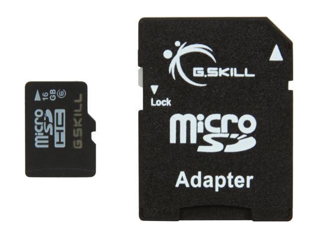 G.SKILL 16GB microSDHC Flash Card Model FF-TSDG16GA-C6