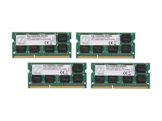 G.SKILL 32GB (4 x 8GB) DDR3 1333 (PC3 10600) Memory for Apple Model FA-1333C9Q-32GSQ