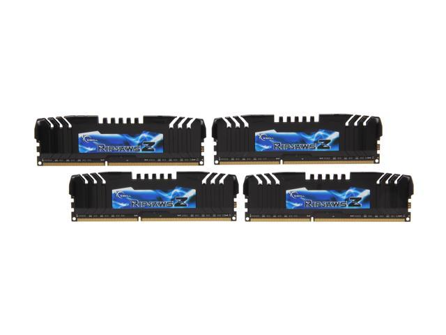 G.SKILL Ripjaws Z Series 16GB (4 x 4GB) 240-Pin DDR3 SDRAM DDR3 2400 (PC3 19200) Desktop Memory Model F3-2400C10Q-16GZH