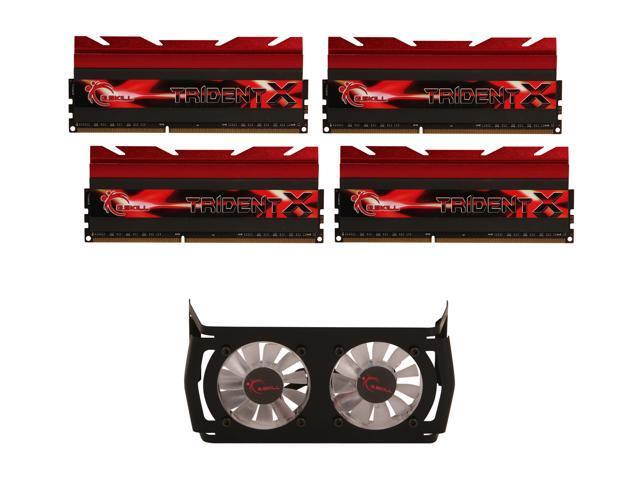 G.SKILL TridentX Series 16GB (4 x 4GB) 240-Pin DDR3 SDRAM DDR3 2800 (PC3 22400) Desktop Memory Model F3-2800C11Q-16GTXD