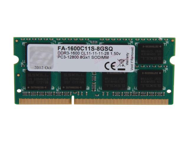 G.SKILL 8GB DDR3 1600 (PC3 12800) Memory for Apple Model FA-1600C11S-8GSQ