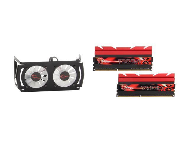 G.SKILL TridentX Series 8GB (2 x 4GB) 240-Pin DDR3 SDRAM DDR3 2400 (PC3 19200) Desktop Memory Model F3-2400C9D-8GTXD