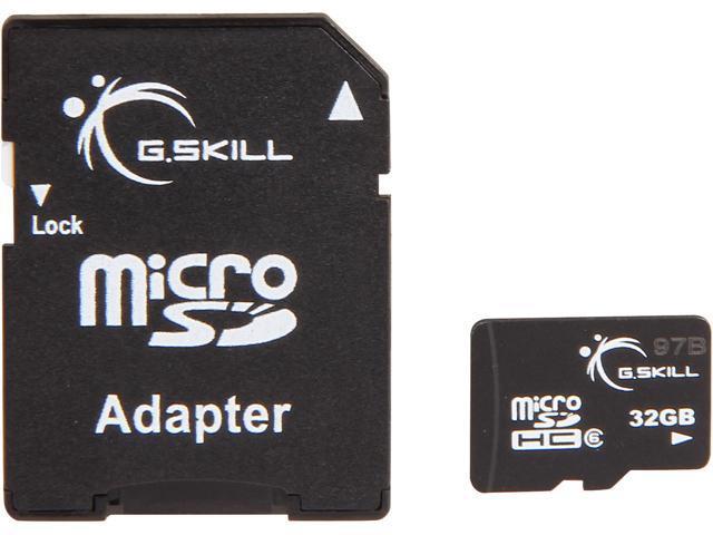 G.SKILL 32GB microSDHC Flash Card Model FF-TSDG32GA-C6B