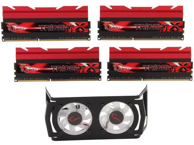 G.SKILL TridentX Series 32GB (4 x 8GB) 240-Pin DDR3 SDRAM DDR3 2933 (PC3 23400) Desktop Memory Model F3-2933C12Q-32GTXDG