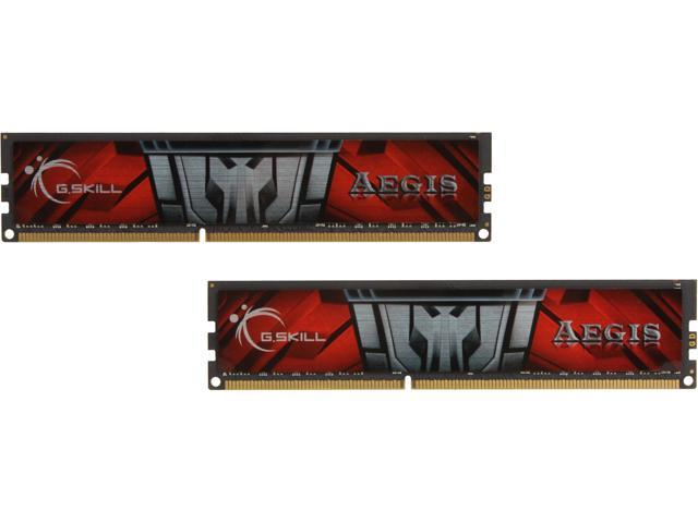 G.SKILL AEGIS 16GB (2 x 8GB) 240-Pin DDR3 SDRAM DDR3 1600 (PC3 12800) Desktop Memory Model F3-1600C11D-16GIS