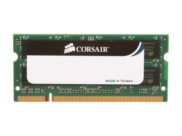 CORSAIR 2GB 200-Pin DDR2 SO-DIMM DDR2 800 (PC2 6400) Laptop Memory Model VS2GSDS800D2 G