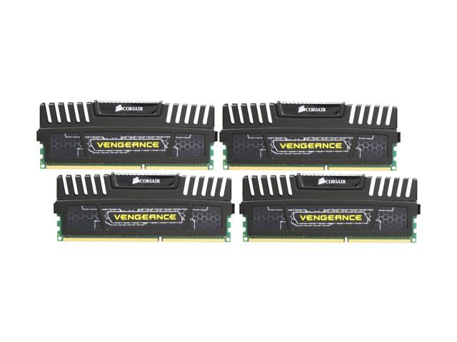 CORSAIR Vengeance 16GB (4 x 4GB) 240-Pin DDR3 SDRAM DDR3 1600 (PC3 12800) Desktop Memory Model CMZ16GX3M4A1600C9